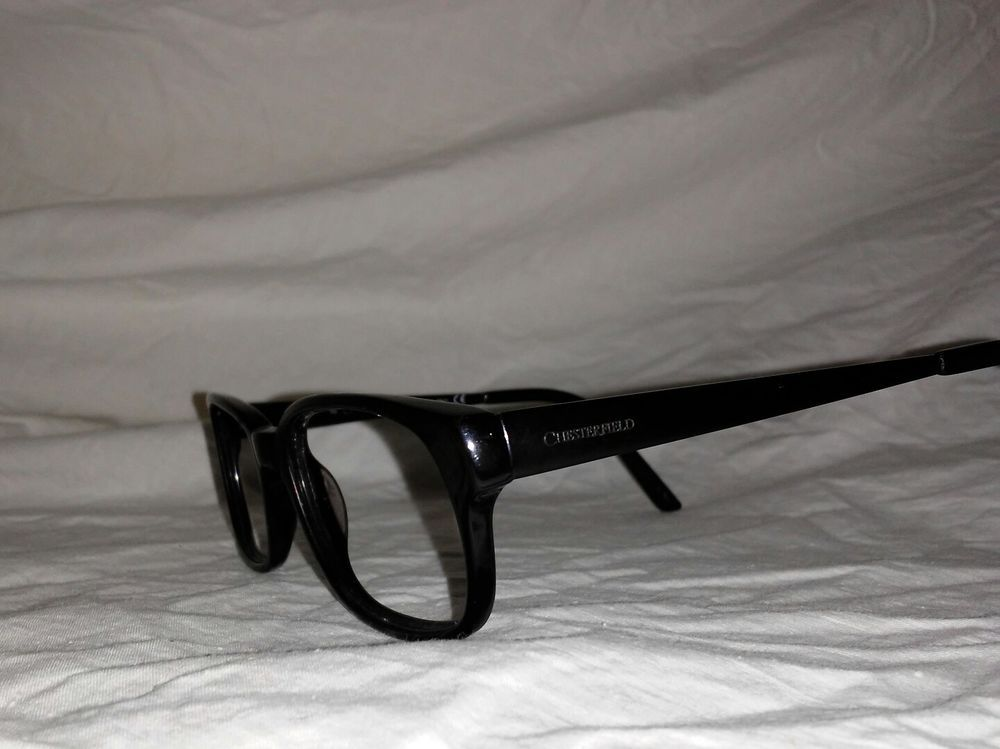 ed07f2b80e Chesterfield Eyeglasses FRAMES BLACK 145 52 36 17 PLASTIC   METAL NICE   Chesterfield