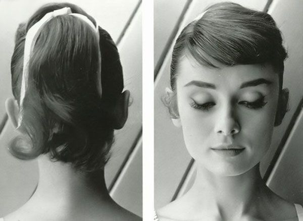 Audrey Hepburn classic high pony tail