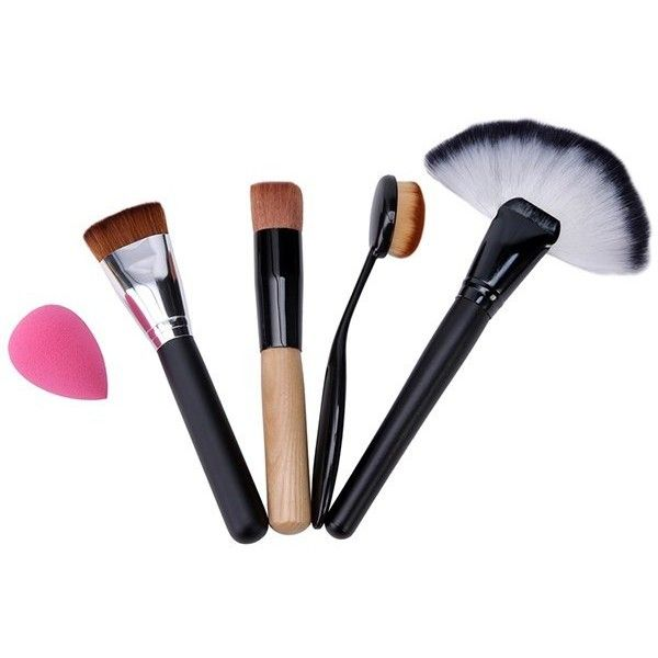 4 Pcs Makeup Brushes Set And Beauty Blender 14 Bam Liked On