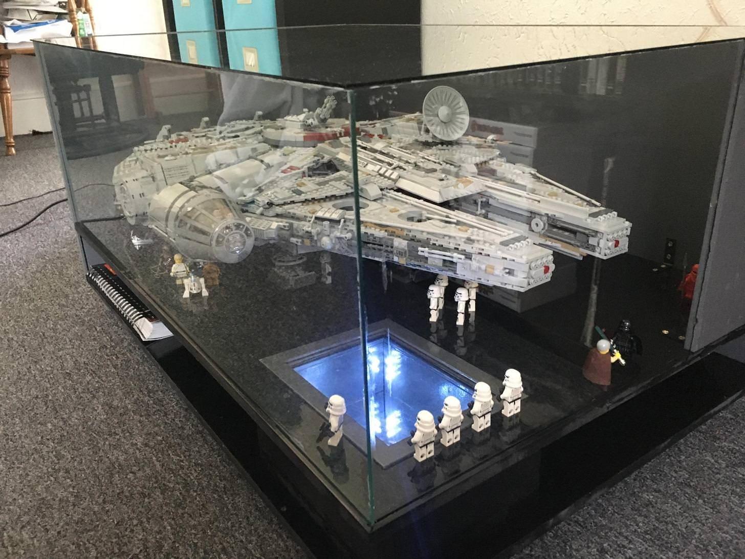 Diy Process Lego Millenium Falcon Coffee Table Star Wars Room Lego Millenium Falcon Star Wars Decor [ 1092 x 1456 Pixel ]