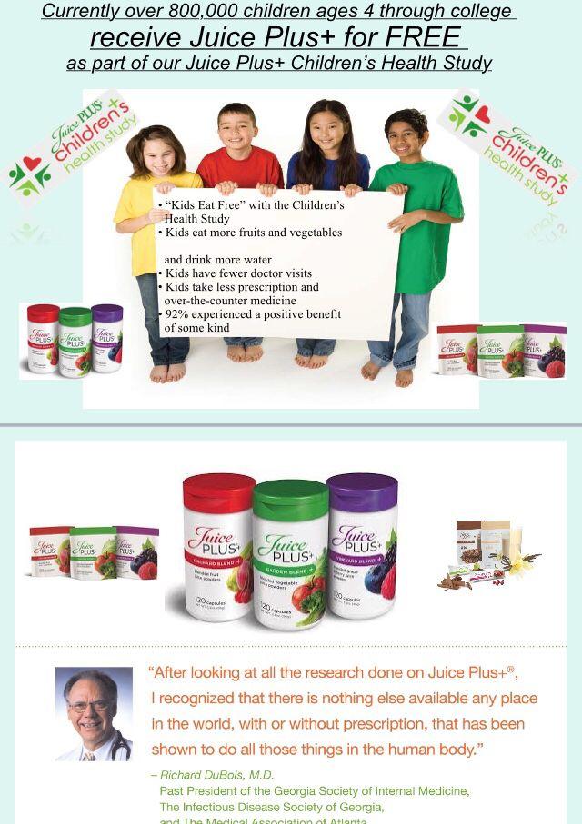Children and Juice Plus | Whole Food Nutrition | Pinterest ...