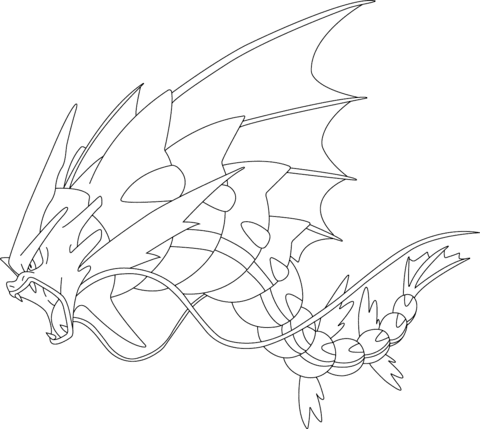 Mega Gyarados Pokemon Coloring Page Free Printable Coloring Pages Mega Pokemon Printable Coloring Pages Coloring Page Mega Evolved Mega Pokemon Coloring Pag