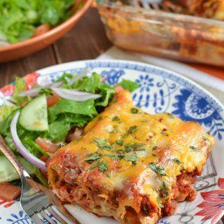 Pasta Chicken Enchiladas   Leftover turkey recipes, Turkey ...