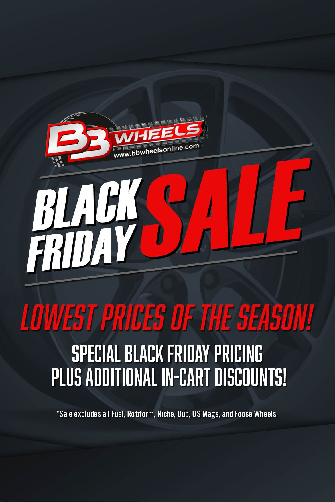 45b2a8eb27aa The Black Friday Sale at BB Wheels is going on right now! Lowest prices of  the season with additional discounts applied at checkout. Treat yourself to  the ...