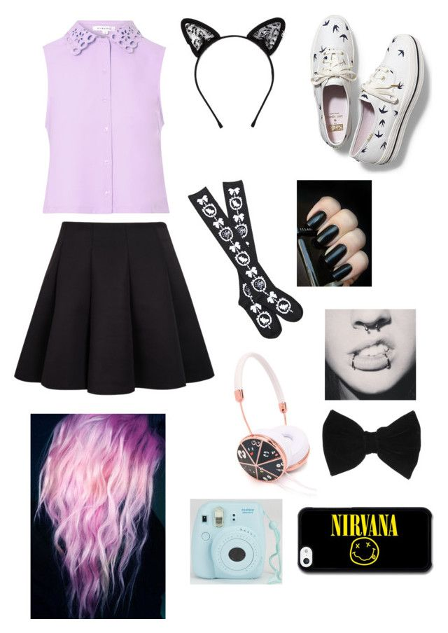 """""""Pastel Goth"""" by jayceepanda ❤ liked on Polyvore featuring Glamorous, Maison Michel, Frends, Keds, claire's, women's clothing, women's fashion, women, female and woman"""