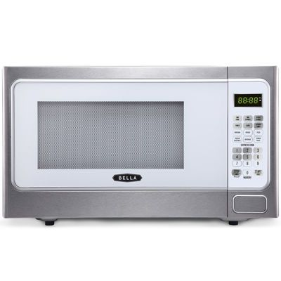 Bella 1000 Watt Stainless Steel And White Microwave Oven