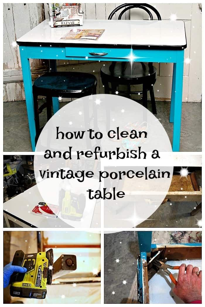 How To Clean And Paint A Vintage Porcelain Enamel Table