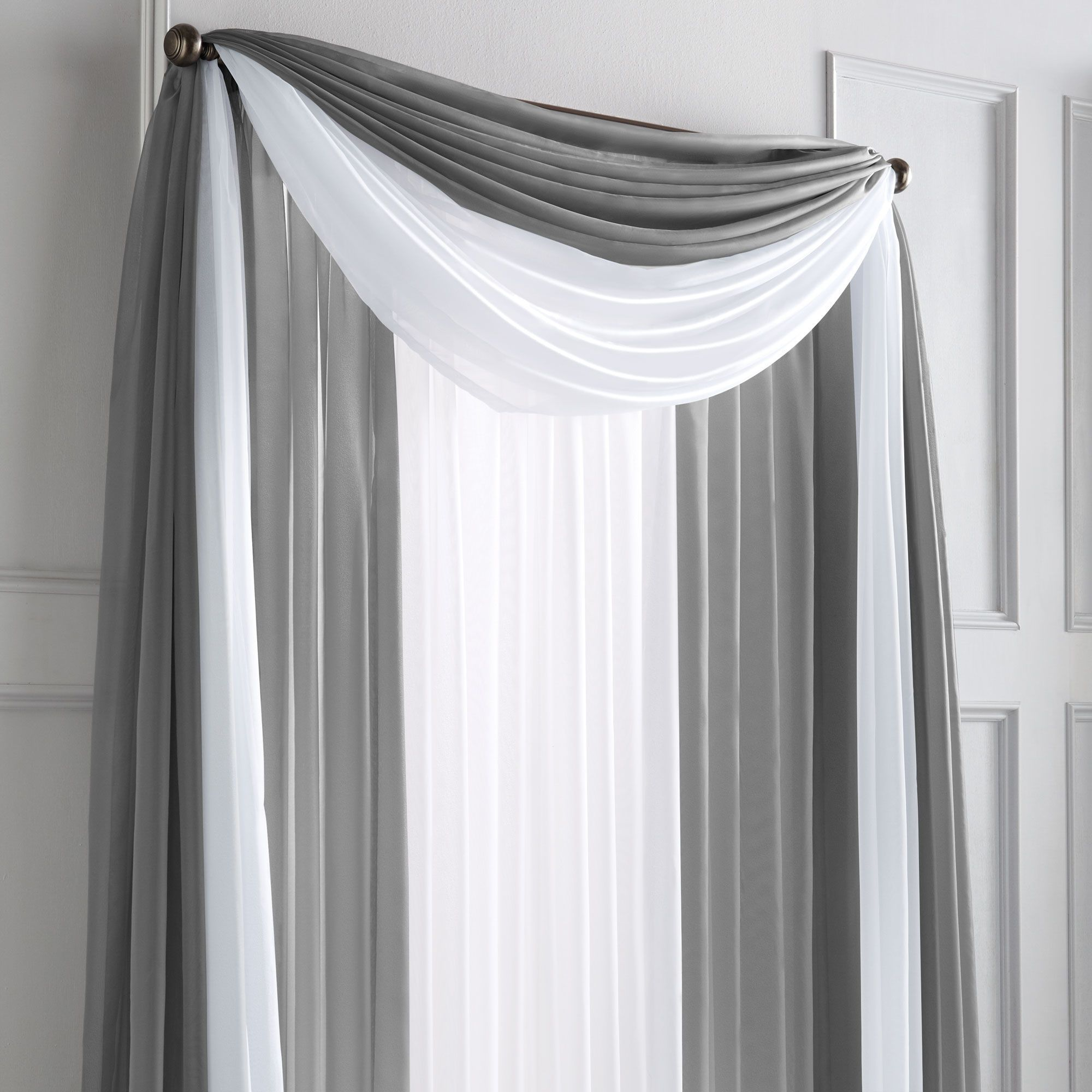 Sheer Scarf Valance Window Treatments Part - 20: WholeHome®/MD U0027Silhouette Sheeru0027 Rod-pocket Panel · Decorations For HouseScarf  ValanceCurtains ...