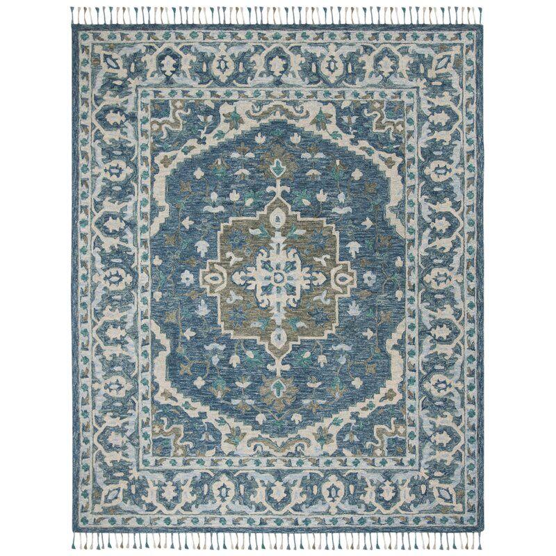 Gooden Hand Tufted Wool Dark Blue Area Rug Reviews Allmodern Jute Area Rugs Rugs Area Rugs