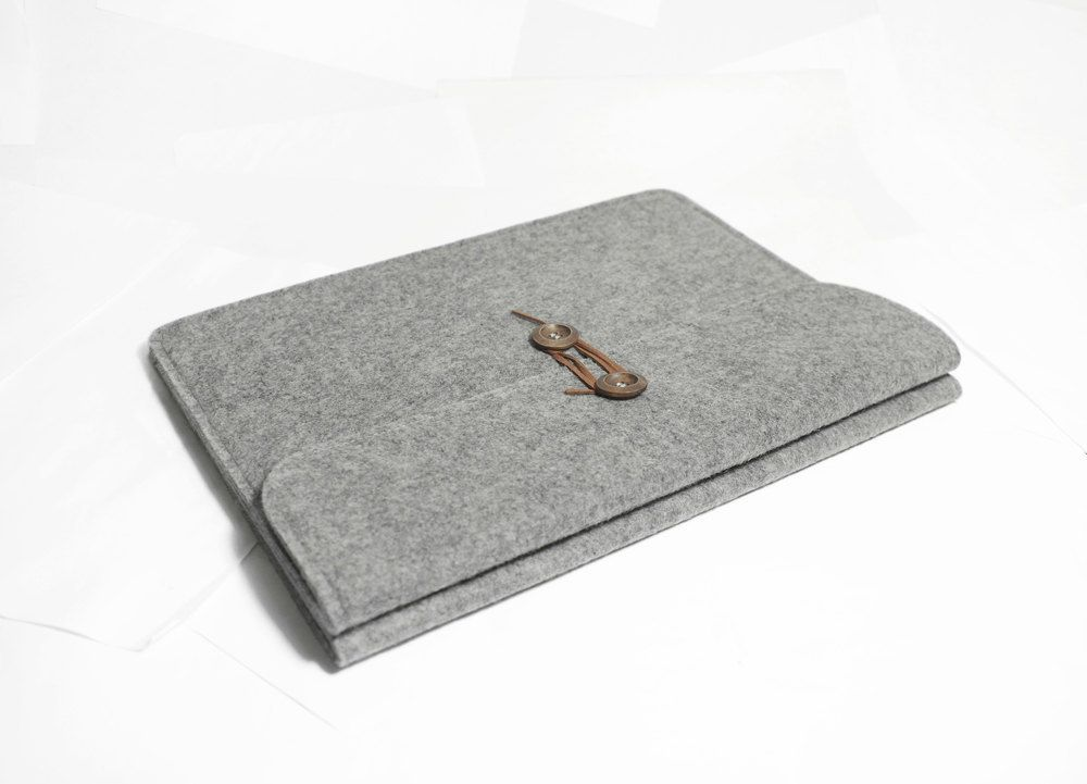 "Macbook pro 13"" Macbook Sleeve Case Wool Felt Custom Made Felt Case Sleeve Cover Bag for Macbook pro 13""-B2034. $29.00, via Etsy."