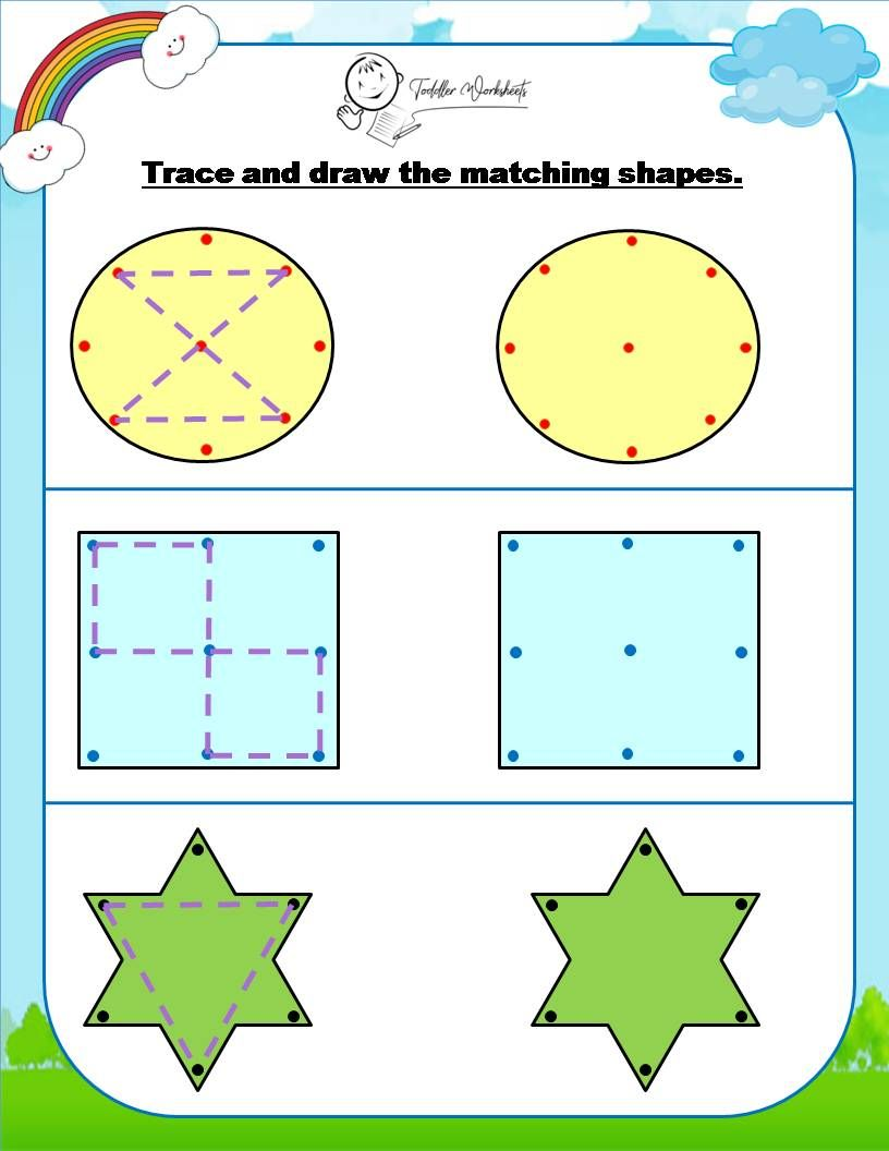 Preschool Matching Circle Square And Star Worksheet Shapes Worksheets Shapes Preschool Printable Shapes [ 1056 x 816 Pixel ]