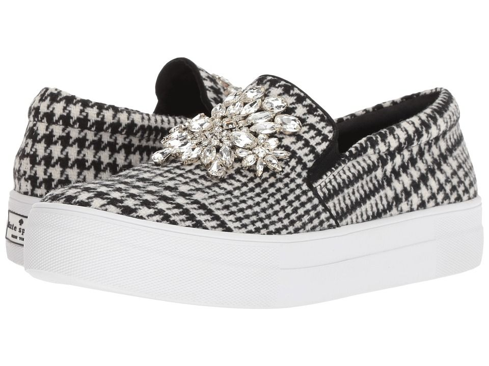 41b3c43d294c Kate Spade New York Gizelle Women s Shoes Black White Houndstooth Wool