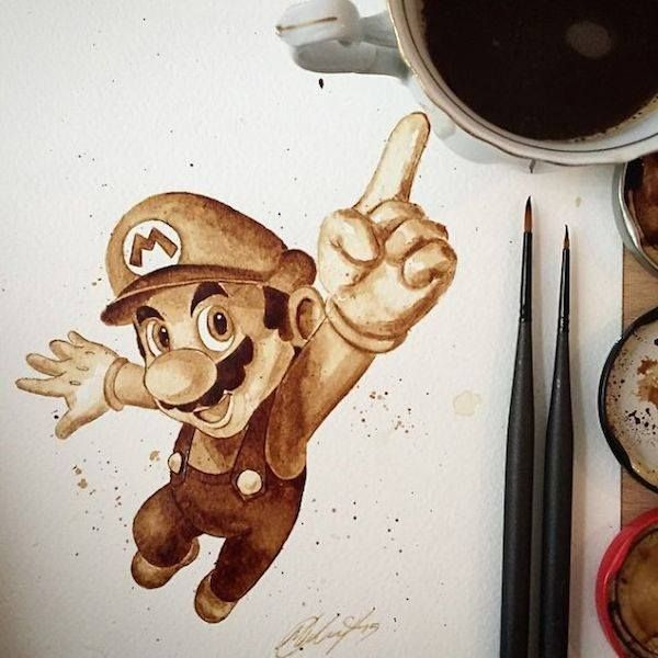 L'artiste Maria A. Aristidou utilise du café pour créer de magnifiques illustrations de personnages cultes