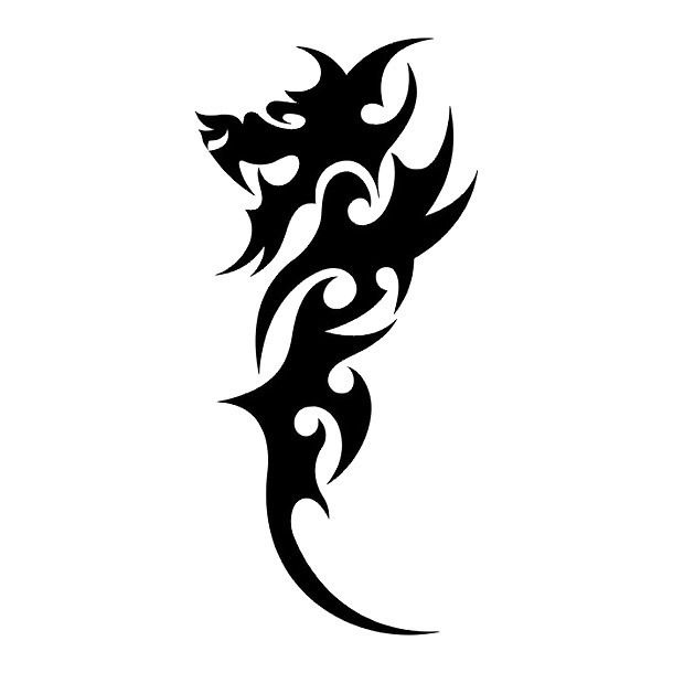 easy and small chinese dragon tattoo design chinese