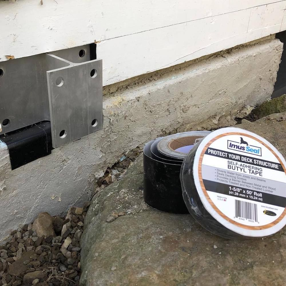 """Imus Seal Butyl Tape for Flashing Deck Joists and Beams 1-5//8/"""" x 50/' Roll"""