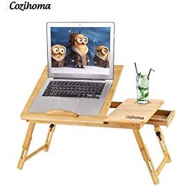 Cozihoma Laptop Desk Bamboo For Bed And Sofa Portable