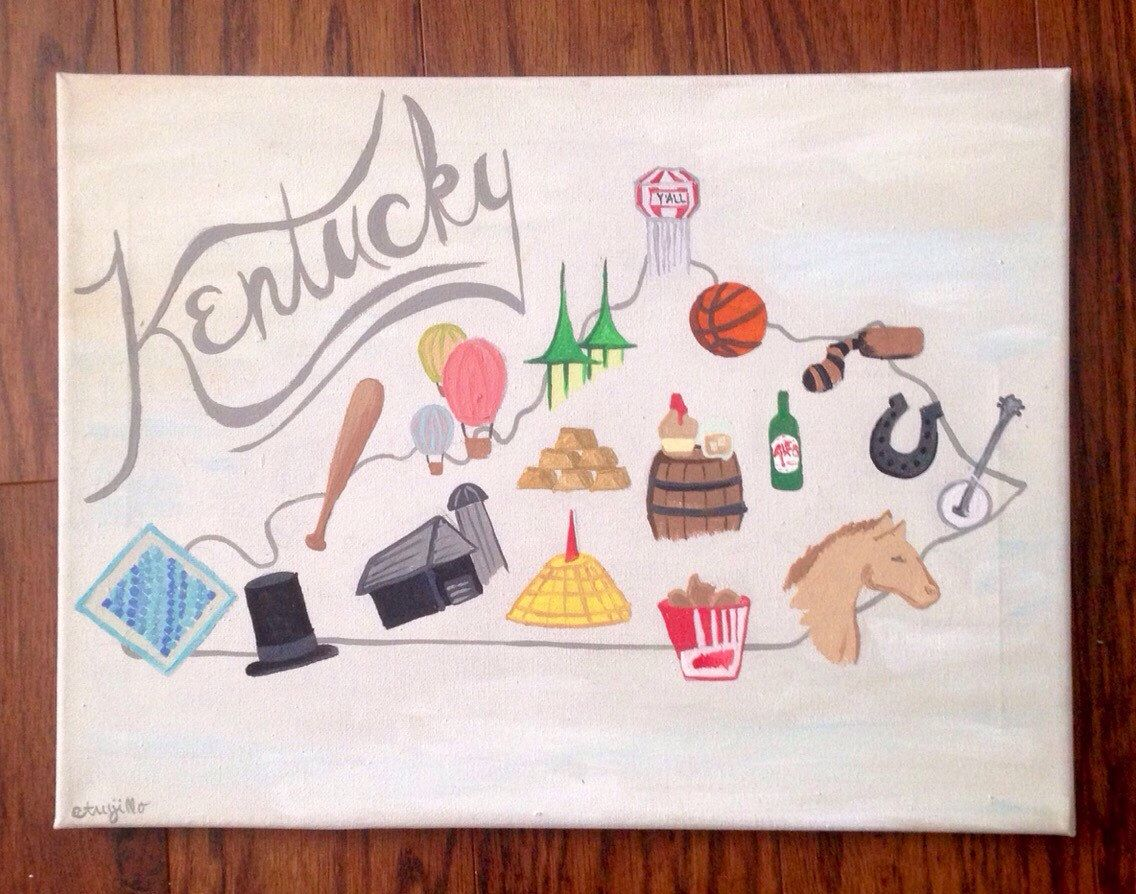 Kentucky Icons  by emilytrujilloart on Etsy https://www.etsy.com/listing/229216236/kentucky-icons