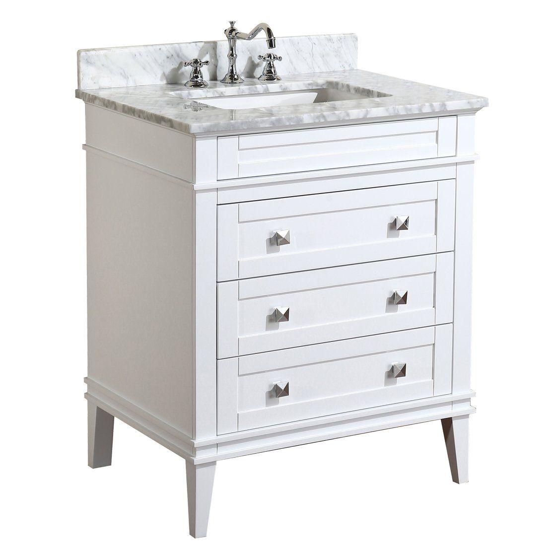 Eleanor 30 Inch Vanity With Carrara Marble Top 30 Inch Bathroom Vanity Single Bathroom Vanity 30 Inch Vanity [ 1120 x 1120 Pixel ]