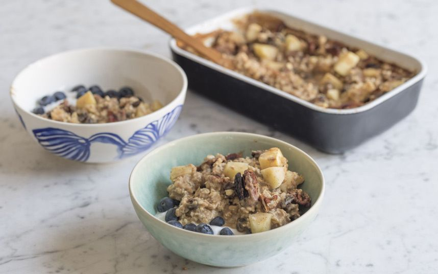 deliciously ella baked apple porridge recipe the breakfast. Black Bedroom Furniture Sets. Home Design Ideas