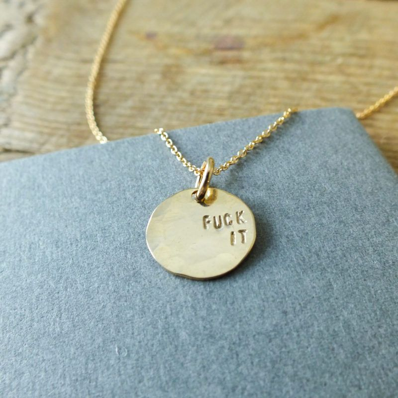 Fuck It Round Necklace | Becoming Jewelry