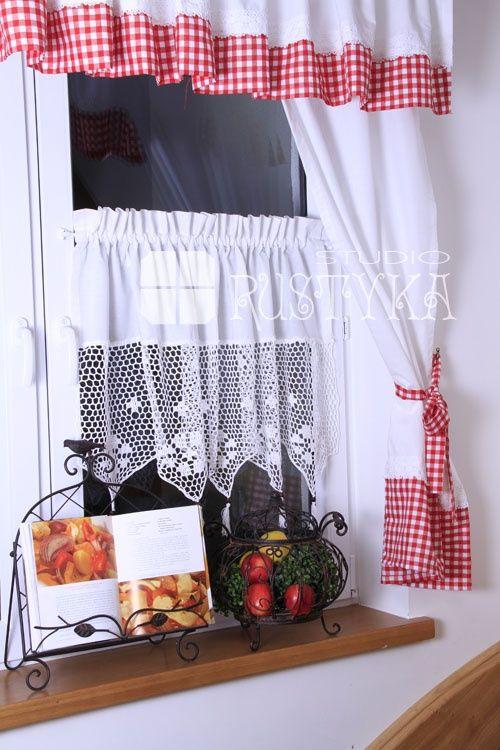 Red Valances For Kitchen Windows Table Island Atrakcyjna Zazdroska Szydełkowa Kuchenne Rewolucje ...