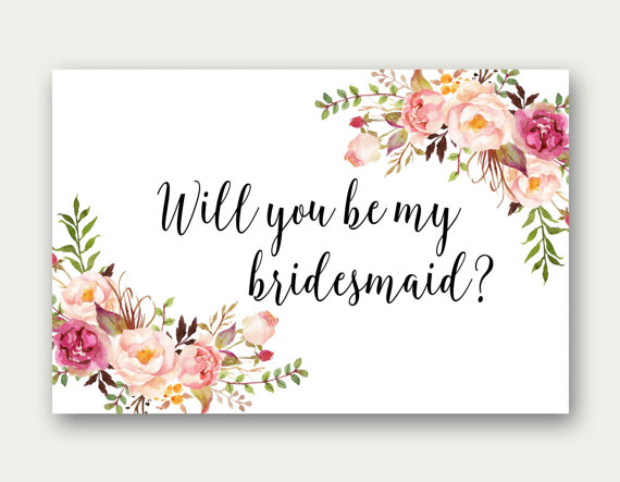 photo regarding Printable Bridesmaid Cards named Will Yourself Be My Bridesmaid, Printable Bridesmaid Card