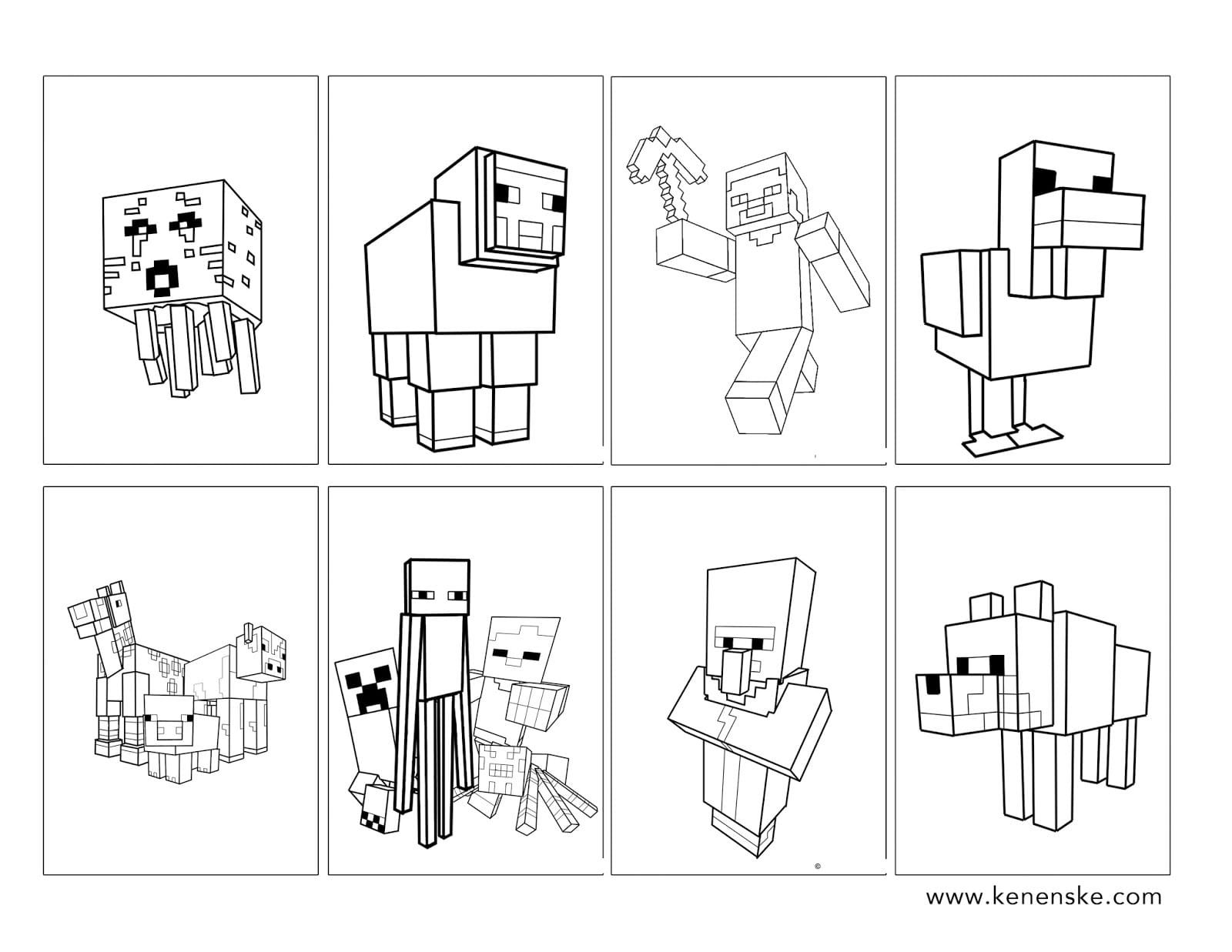 Minecraft Coloring Book Minecraft Coloring Pages Free Kids Coloring Pages Minecraft Party Printables