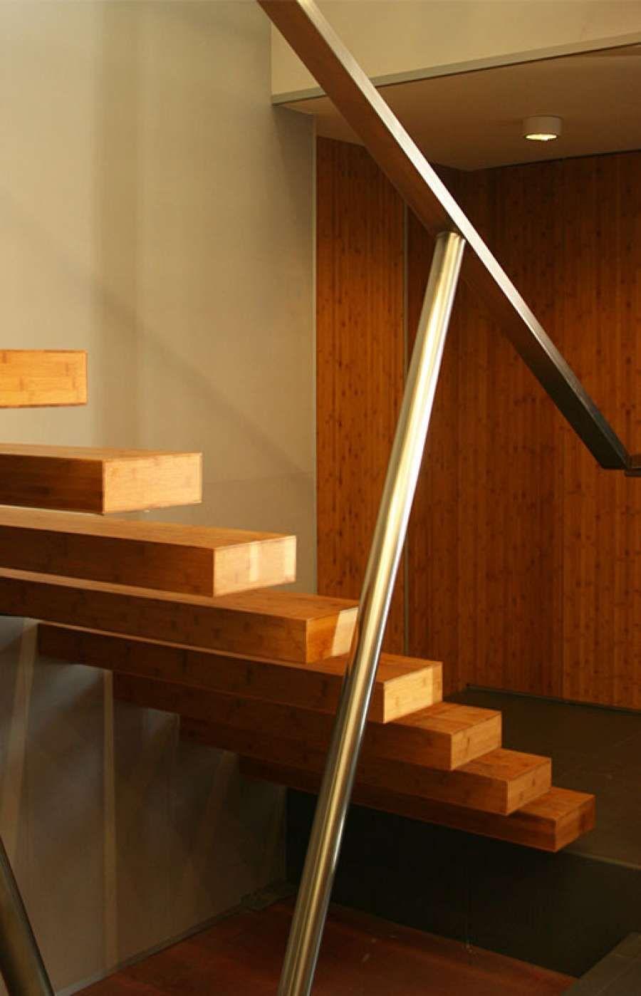 Escalera volada de bamb Oficinas Polygroup Escalera Pinterest