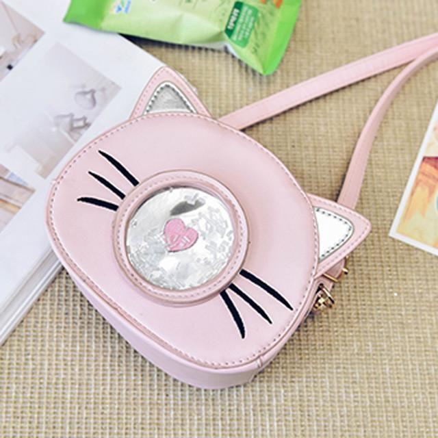 Osmond Mini Women Bag Cute Cat PU Leather Corssboby Shoulder Messenger Bags Girls Handbag Purse Design Famous Brands Circular