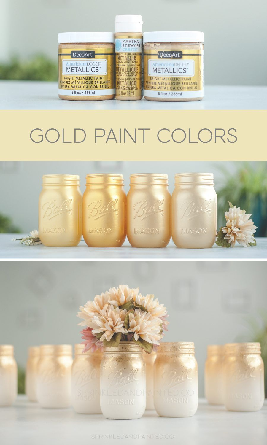 Gold Paint Colors is part of Gold paint colors, Mason jar crafts diy, Spray paint colors, Jar crafts, Gold acrylic paint, Gold paint - Since I started airbrushing Ive been testing some gold paints  Ive been working on replicating Rustolems gold spray paint  You can check out my gold spray paint post  Rustolems gold is the 'winner' for the best gold spray paint for me  This post contains affiliate links for Amazon and I make commission if you buy …