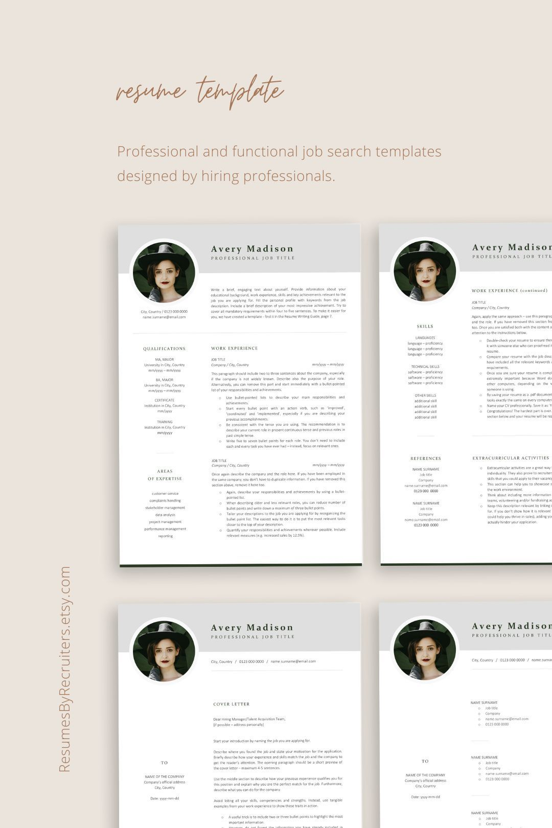 Modern Resume Template With Photo Instant Download Resume Cv Etsy Download Resume Resume Template Resume