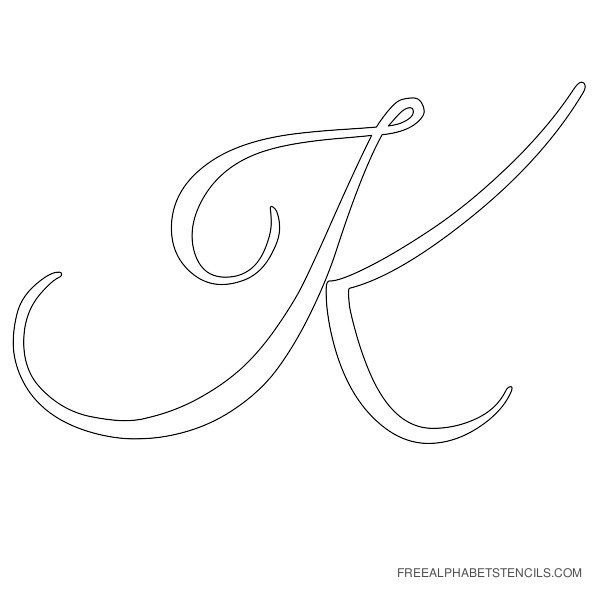 graphic relating to Printable Cursive Letter Stencils known as No cost Printable Alphabet Stencils Cursive Letter Alphabet