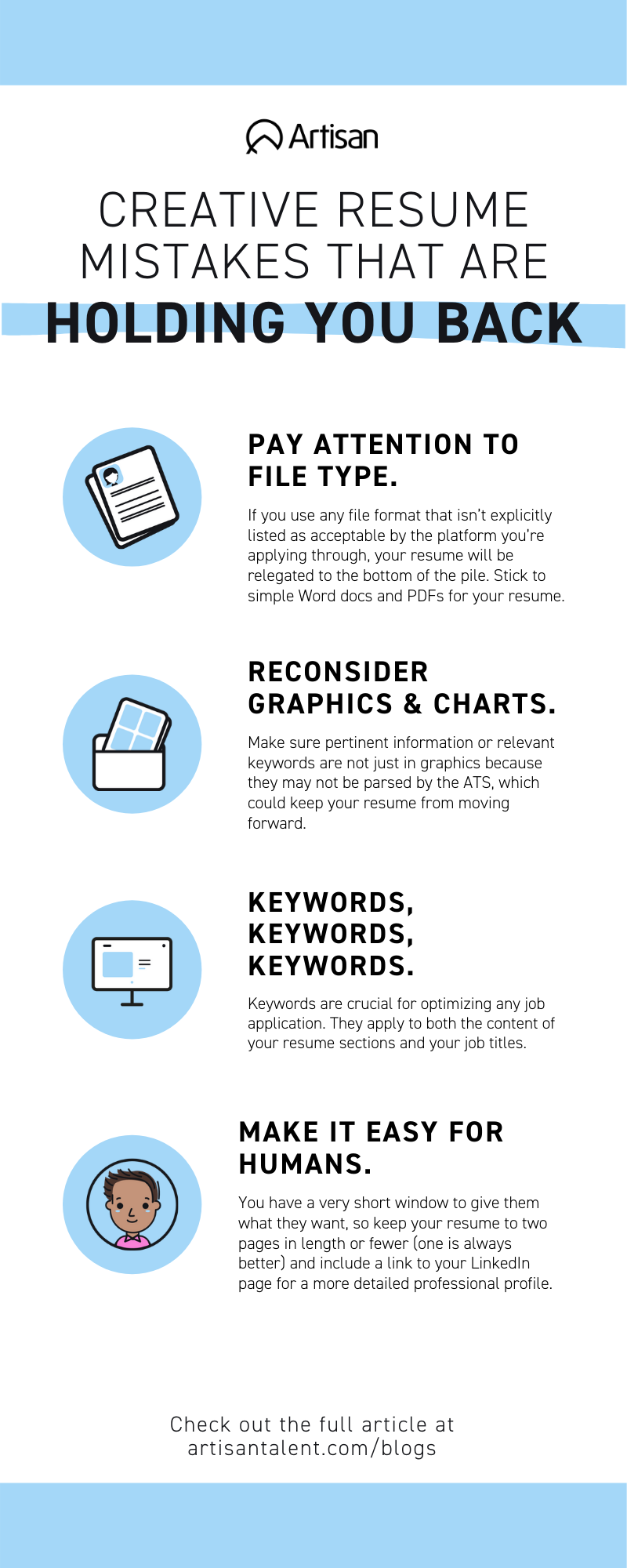 Creative Resume Mistakes That Are Holding You Back Creative Resume Resume Simple Words