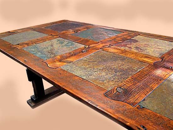 Table Rustic Reclaimed Wood Dining Table Wood Plank Table Dining Table Outdoor Kitchen Countertops Outdoor Kitchen Design Barn Wood