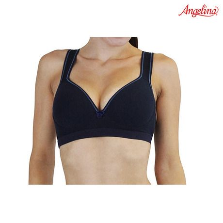 6-Pack: Angelina Molded-Cup Sports Bras with Bow Detail