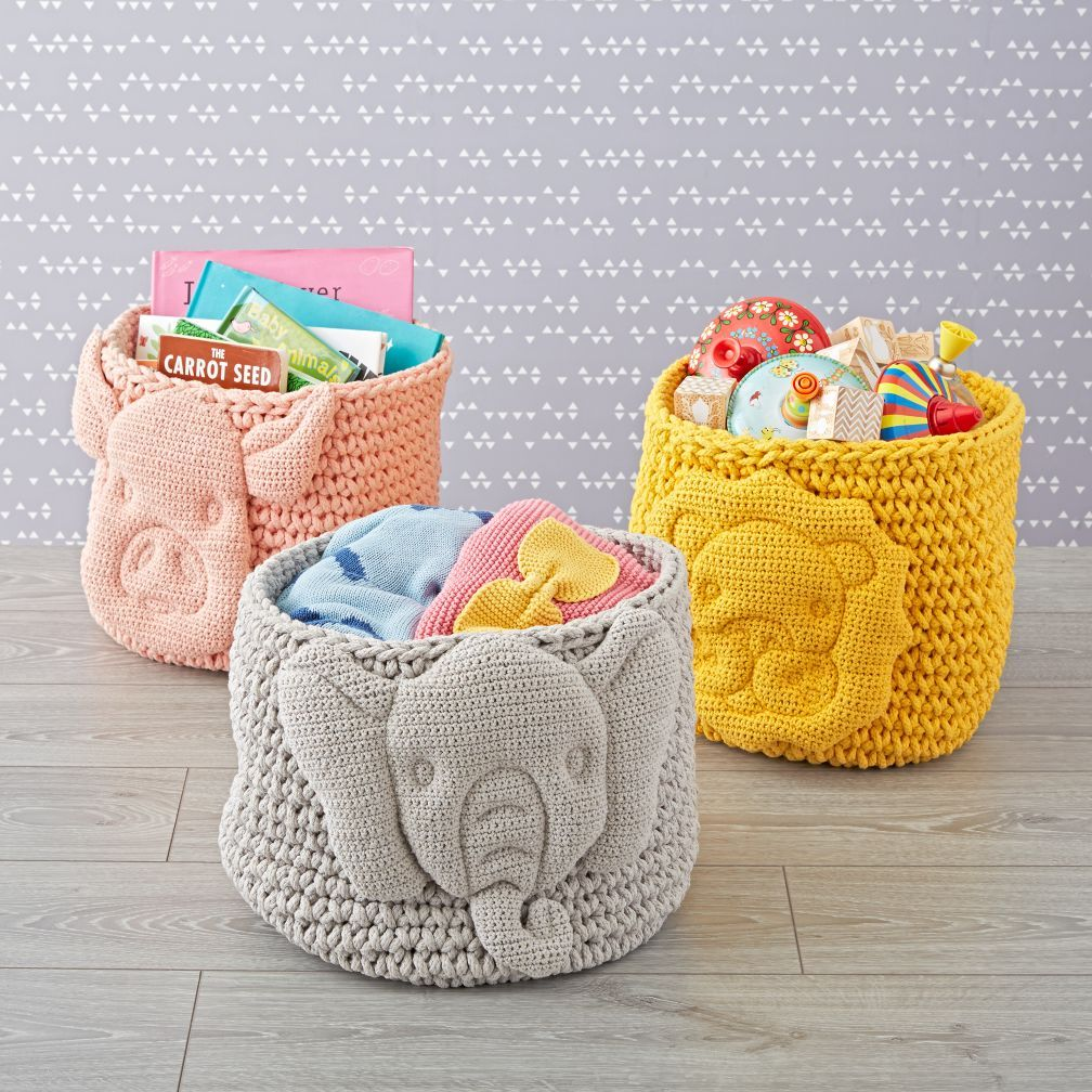 Shop Baby Animal Knit Bin. While Youu0027ll Surely Appreciate This Storage Binu0027s  Handcrafted