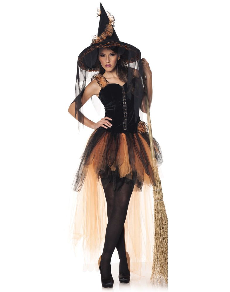 Hallows Eve Womens Adult Dark Wicked Witch Halloween Costume L