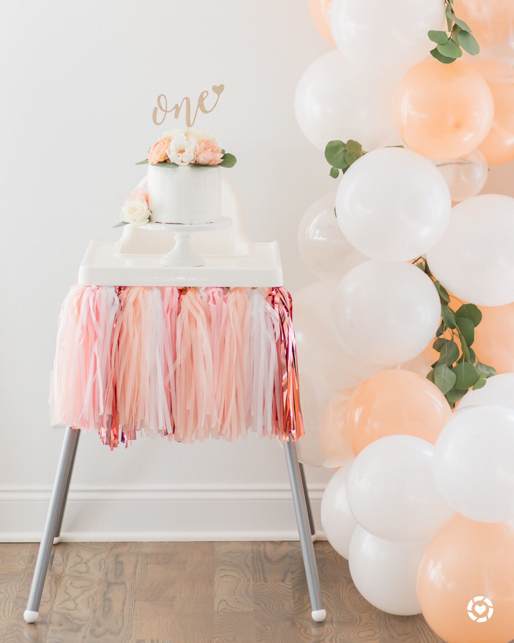 Sweet as a Peach 1st birthday party decor