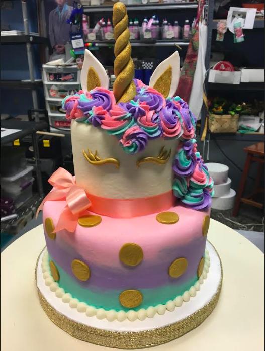 Rainbow Unicorn Birthday Cake Adrienne Amp Co Bakery