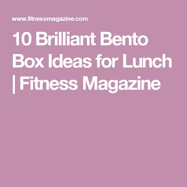 10 Brilliant Bento Box Ideas for Lunch | Fitness Magazine