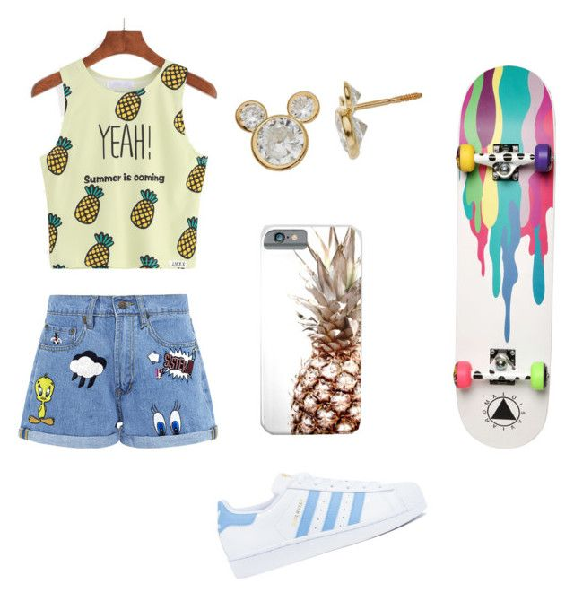 """""""by Léa"""" by im96bis on Polyvore featuring WithChic, Paul & Joe Sister, adidas, Ernesto Esposito and Disney"""