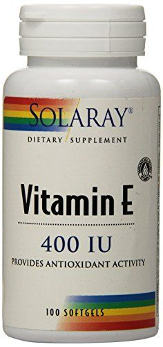 Solaray E DAlpha Tocopherol Capsules 100 Count >>> Click image to review more details. (Note:Amazon affiliate link)