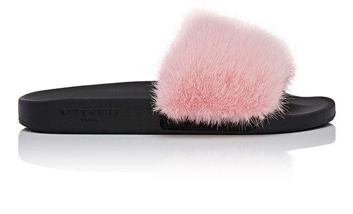 c18c1a8fc982 Givenchy Mink Fur Slide Sandals