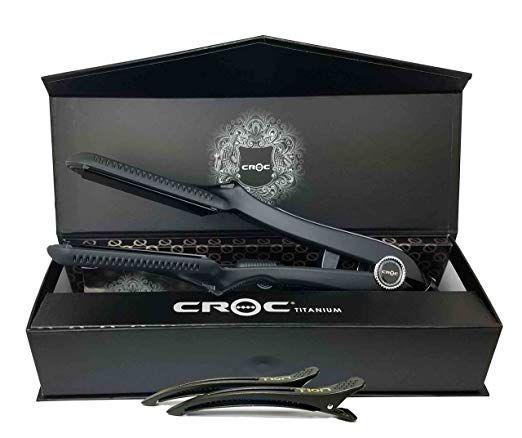 Croc Classic Flat Iron 1 5 Inch Black Titanium Digital Straightener Hair Iron Review Flat Iron Hair Straightener Hair Iron