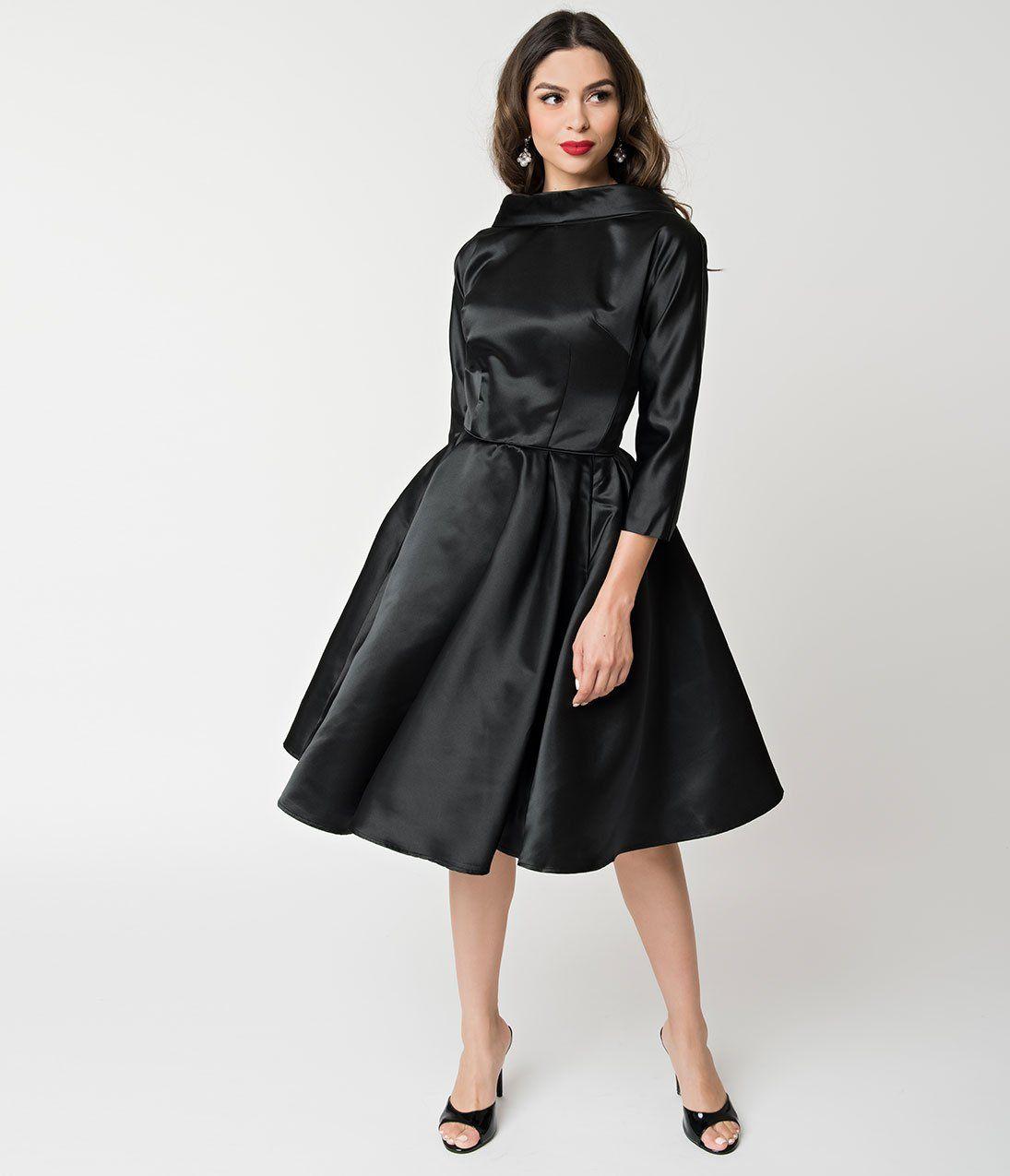 1950s Bridesmaid Dresses 50s Bridesmaid Dresses Sixties Fashion Vintage Dresses Online Black Swing Dress [ 1275 x 1095 Pixel ]