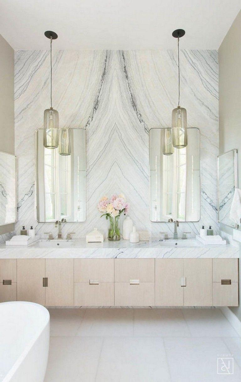 55 Luxury White Bathroom Vanity Ideas Bathroomideas Bathroomdecor Bathroomremodeling Glamorous Bathroom Luxury Bathroom Master Baths Elegant Bathroom [ 1216 x 768 Pixel ]