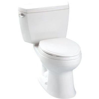 Toto Eco Drake 2 Piece 1 28 Gpf Single Flush Elongated Toilet In Cotton White Cst744e 01 The Home Depot Toto Toto Toilet Toilet