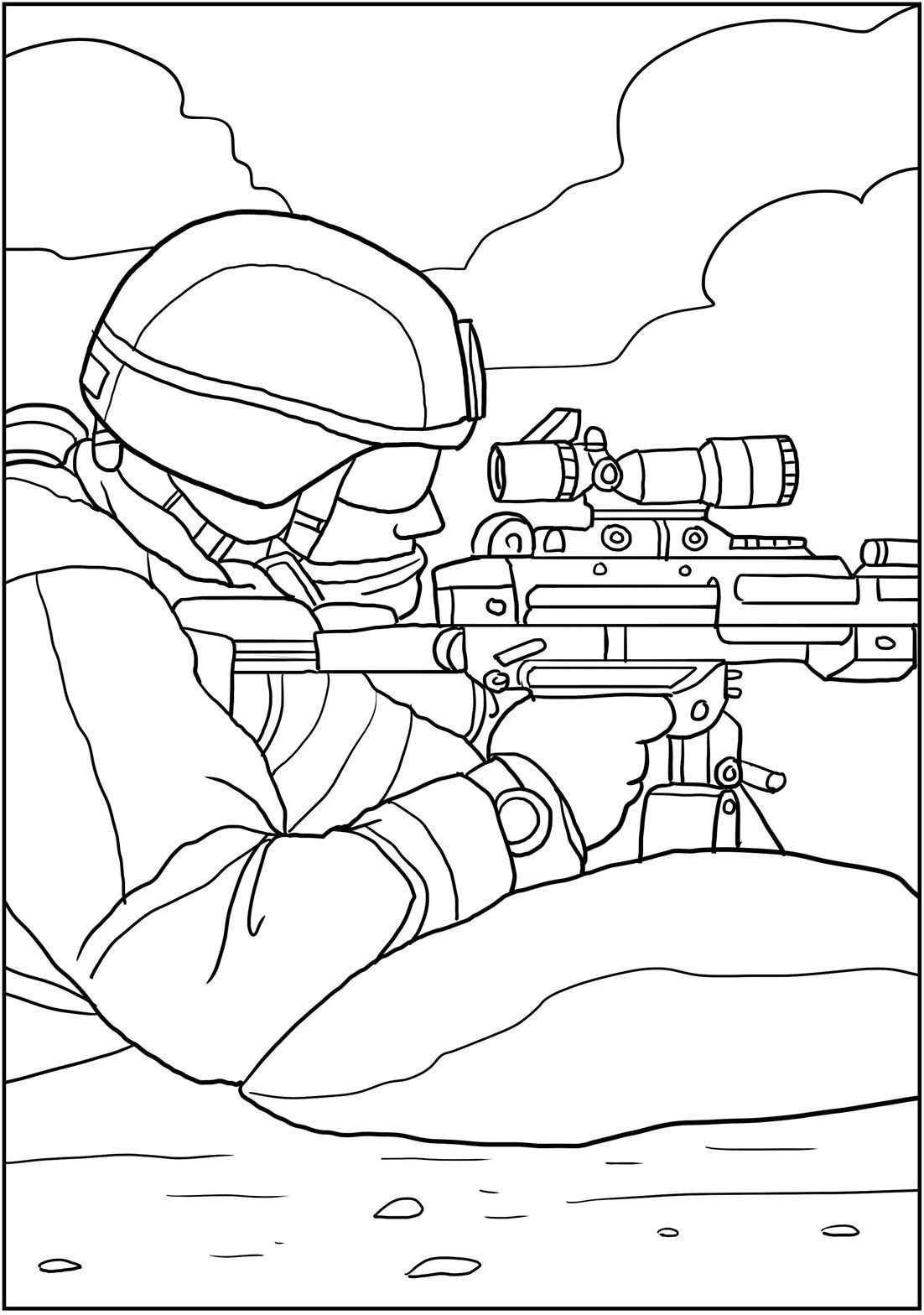 Military Scenes To Color From New Coloring Books Around Army Theme