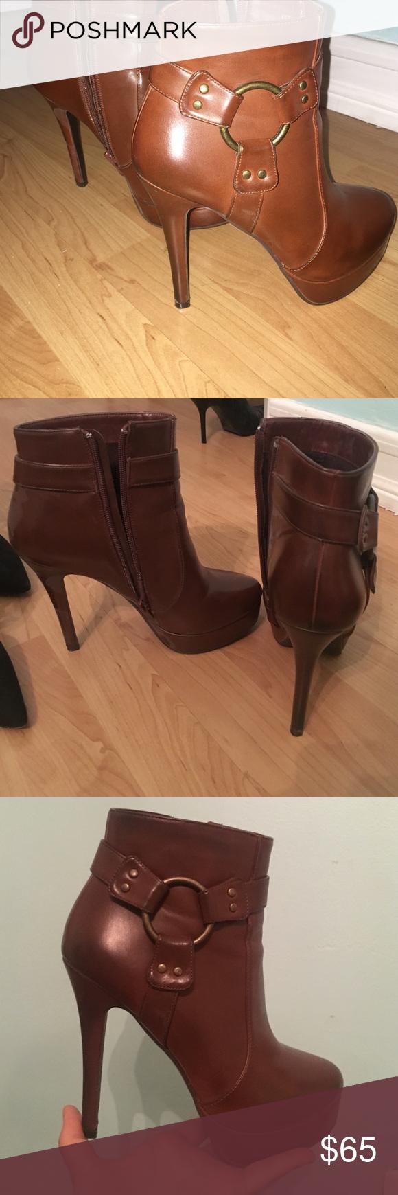 Charles David, high heel booties! Comfortable high heel booties Charles David Shoes Heeled Boots