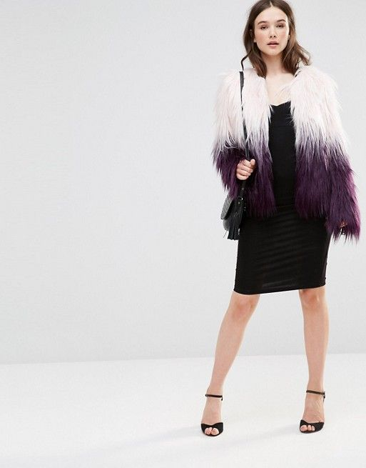 de21c68ed Barney's Originals Ombre Faux Fur Coat | Fashion | Faux fur, Fur ...